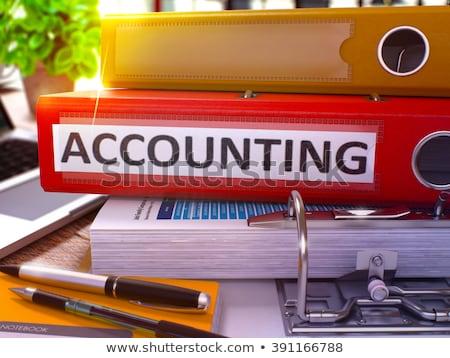 Accounting on Red Ring Binder. Blurred, Toned Image. Stock photo © tashatuvango