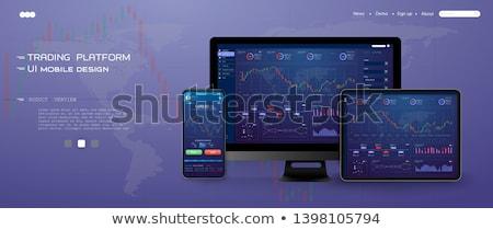 Portátil Screen financiar comercialización moderna lugar de trabajo Foto stock © tashatuvango