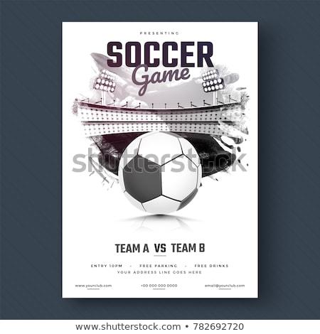 аннотация дизайна лига Flyer футбола Сток-фото © SArts