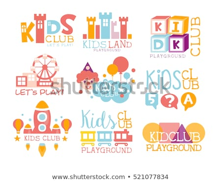 Sticker set for kids playing on rides Stock photo © bluering