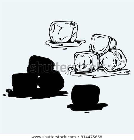 Melting ice cubes, cold and fresh concept Stock photo © JanPietruszka