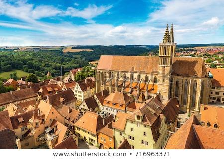 Rothenburg panorama with St. James's Church Stock photo © benkrut