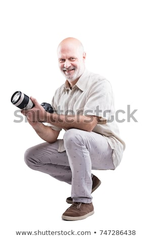Abajo profesional experto fotógrafo sonriendo Foto stock © Giulio_Fornasar