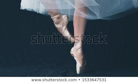 közelkép · kilátás · nő · táncos · balettcipő · fekete - stock fotó © m_pavlov
