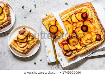 アプリコット 梅 ジャム 食品 朝食 デザート ストックフォト © Digifoodstock