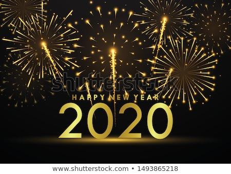 új év tűz meghívó textúra terv háttér Stock fotó © carodi