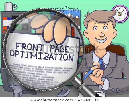 pagina · optimalisatie · business · hoorn · spreker - stockfoto © tashatuvango