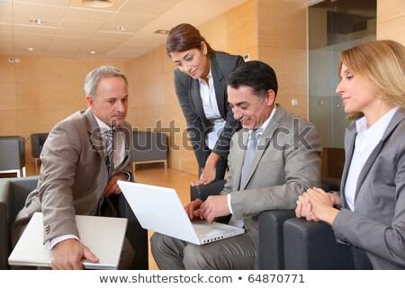 hatékony · stratégiák · laptop · konferenciaterem · leszállás · oldal - stock fotó © tashatuvango