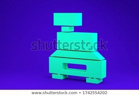 green check in keypad on keyboard 3d illustration stock photo © tashatuvango