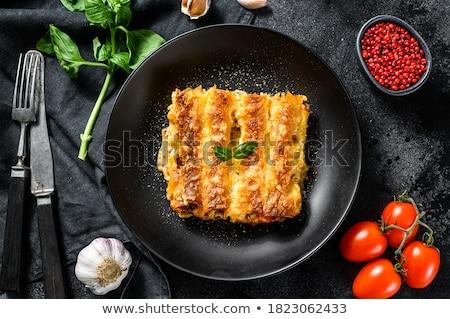 Zdjęcia stock: Wołowiny · sos · pomidorowy · obiedzie · makaronu · pomidorów · posiłek