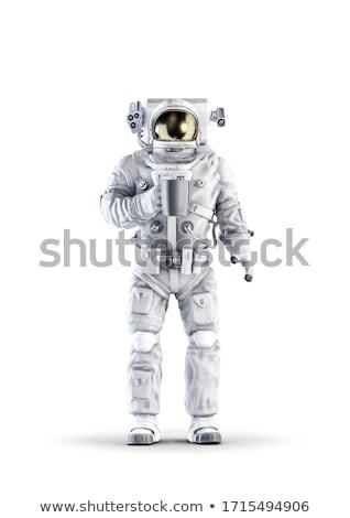 vreemdeling · ruimte · schip · balk · illustratie · jongen - stockfoto © studiostoks