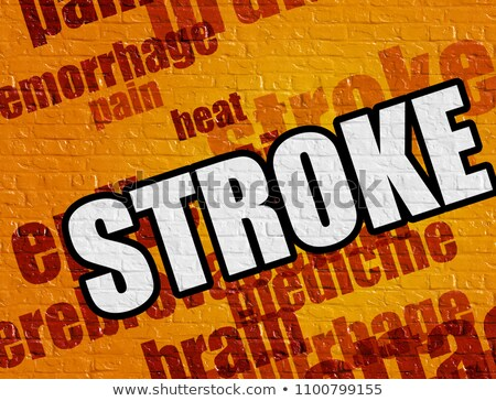 Stock photo: Medicine Concept Brain Attack On Red Brickwall