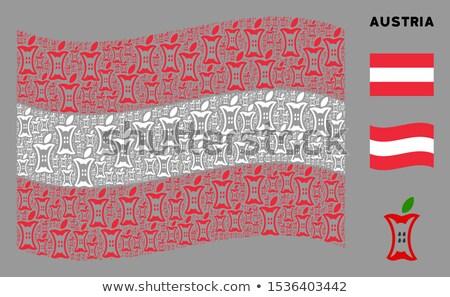 Austria · bandera · blanco · resumen · fondo · signo - foto stock © popaukropa