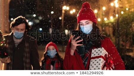 crowd on street at holiday night stock photo © vapi
