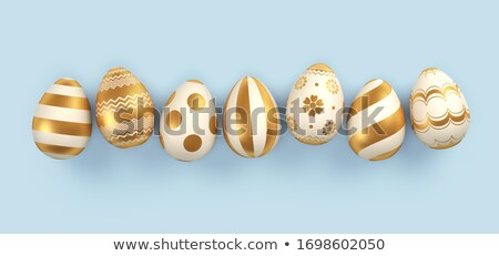 colorful easter eggs 3d rendering stock photo © Wetzkaz