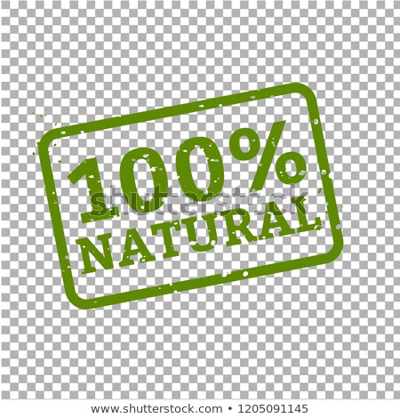 100 natural stamp sign cardboard stock photo © barbaliss
