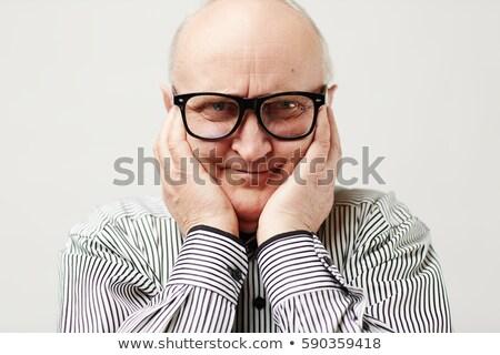 Uomo faccia buffa sfondo bianco primo piano Foto d'archivio © IS2