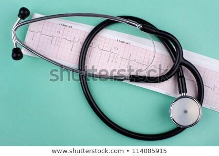 stetoskop · kalp · izlemek · mavi · kalem · tablo - stok fotoğraf © wavebreak_media