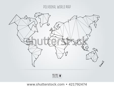 Wereldkaart meetkundig ontwerp kleurrijk illustratie verschillend Stockfoto © lenm