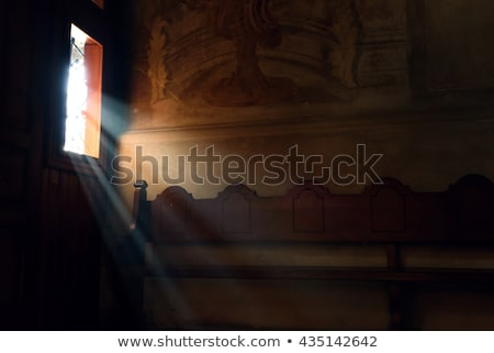 Light falling in gothic cathedral Stock photo © backyardproductions