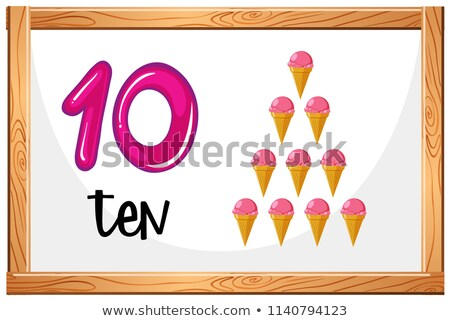 Count to 10 icecream concept Stock photo © bluering