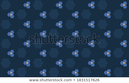 Stock photo: Memphis Style Abstract Hexagonal Shape Background