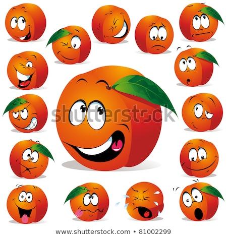 Cartoon Peach Crying Stock photo © cthoman