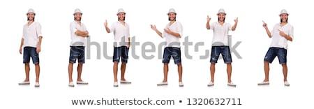 セット 若い男性 孤立した 白 ストックフォト © Lady-Luck