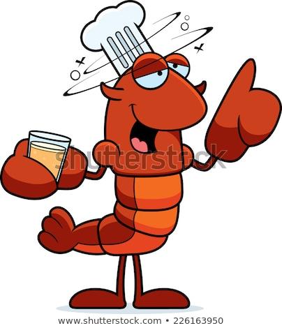 Bêbado chef desenho animado ilustração olhando cerveja Foto stock © cthoman