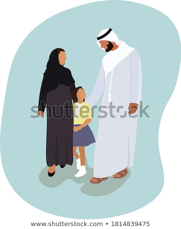 Muslim Family Traveling Days Vector Illustration Stock photo © robuart