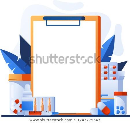 Pharmacie médication affiche vide médicaux affiches Photo stock © robuart