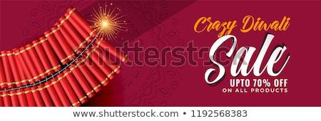 crazy diwali sale banner template Stock photo © SArts