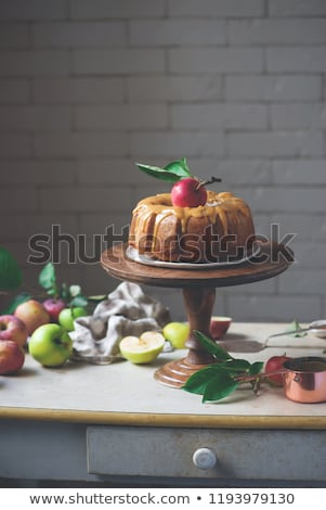 kardemom · volkoren · appel · cake · honing · karamel - stockfoto © zoryanchik