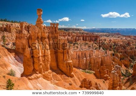 rocha · formação · desfiladeiro · parque · vermelho · laranja - foto stock © prill
