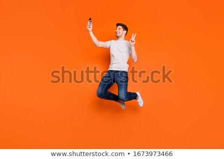 Foto joven a rayas camiseta Foto stock © deandrobot