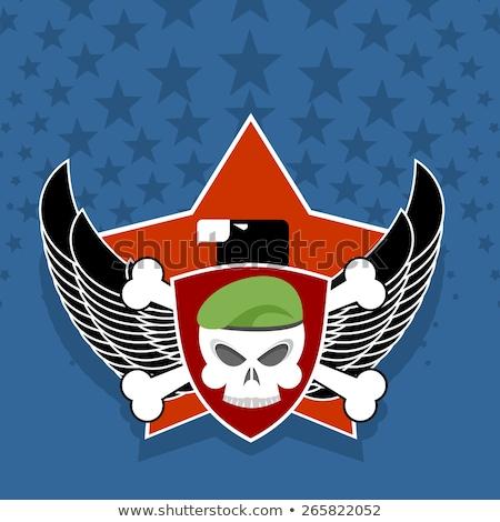 армии логотип череп щит фон орел Сток-фото © popaukropa