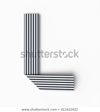 черно белые 3D 3d визуализации иллюстрация Сток-фото © djmilic