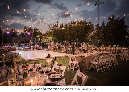 Piękna odkryty ceremonia ślubna czeka oblubienicy pan młody Zdjęcia stock © ruslanshramko