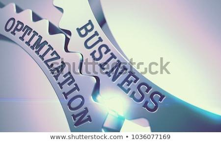 business processes   mechanism of shiny metal cogwheels 3d stock photo © tashatuvango