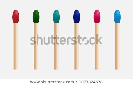 Ognia płomienie nowego kolorowy zestaw gradient Zdjęcia stock © Ecelop