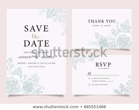 Wedding floral wreath save the date cards Stock photo © blumer1979