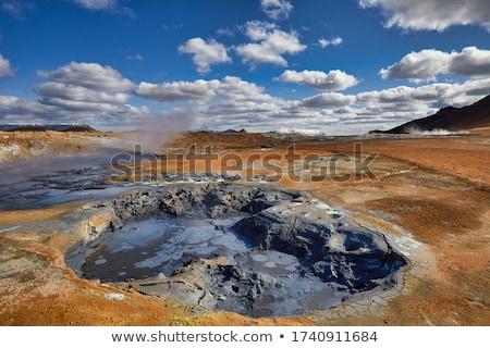 フィールド アイスランド 風景 泥 ホット 観光 ストックフォト © Kotenko