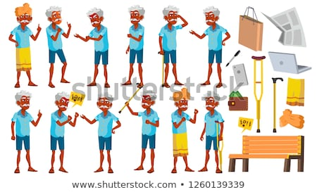 asian old man vector senior person aged elderly people activity beautiful face emotions vario stock photo © pikepicture