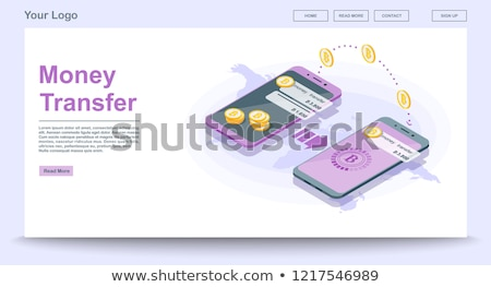 money transfer isometric 3d concept illustration stock photo © rastudio