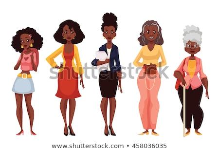 Generation weiblichen Vektor Großmutter Mutter Stock foto © pikepicture