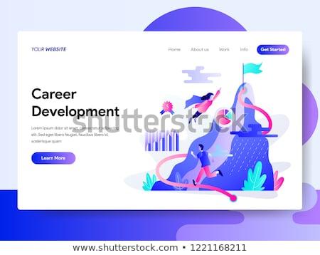 Career development concept landing page. Stock photo © RAStudio