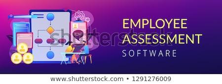 Dipendente valutazione software banner manager Foto d'archivio © RAStudio