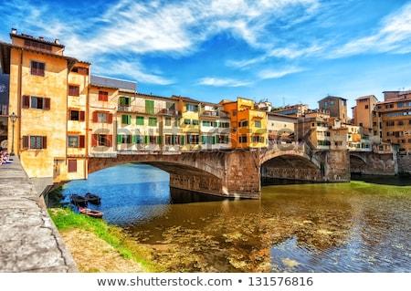 Híd Florence Olaszország kilátás fény művészet Stock fotó © boggy