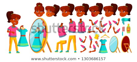Indian meisje kid vector middelbare school kind Stockfoto © pikepicture