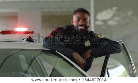 Policeman In American Cop Uniform Stock photo © netkov1